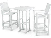Polywood Coastal Recycled Plastic 3-piece Bar Set Pws156-1