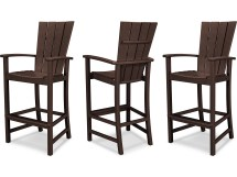 Polywood Quattro Recycled Plastic 3 Piece Bar Set Pws282-1