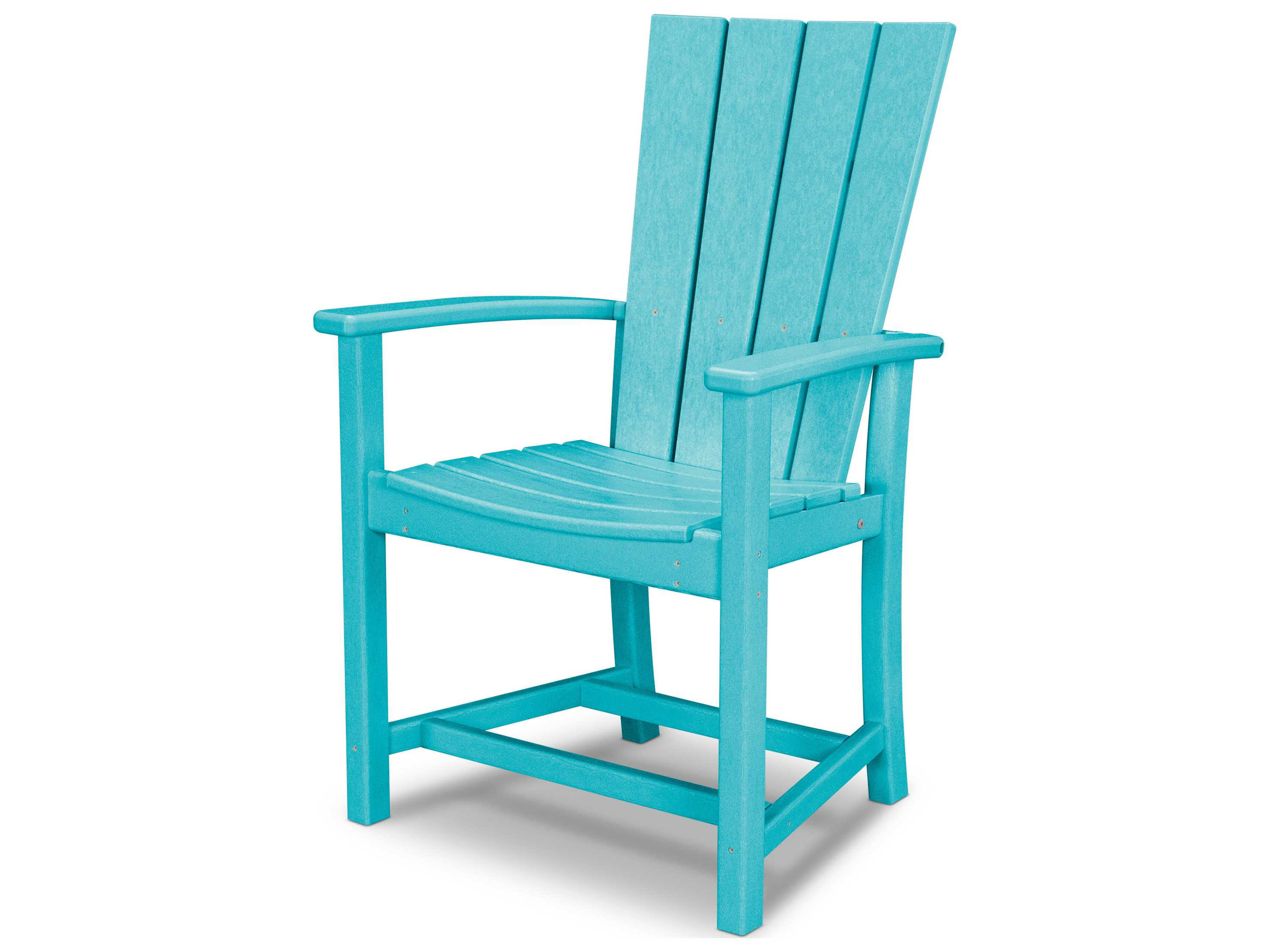Plastic Outdoor Chair Polywood Quattro Recycled Plastic Adirondack Dining Chair