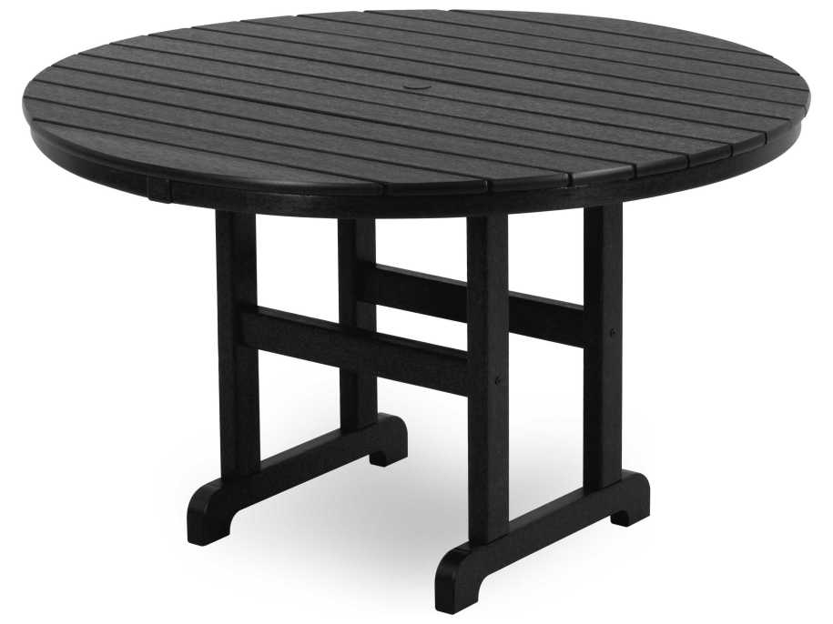 POLYWOOD® La Casa Cafe Recycled Plastic 48 Round Dining ...