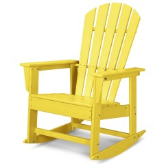 Adirondack Rocking Chairs Resin Tall Bar Polywood South Beach Recycled Plastic Rocker