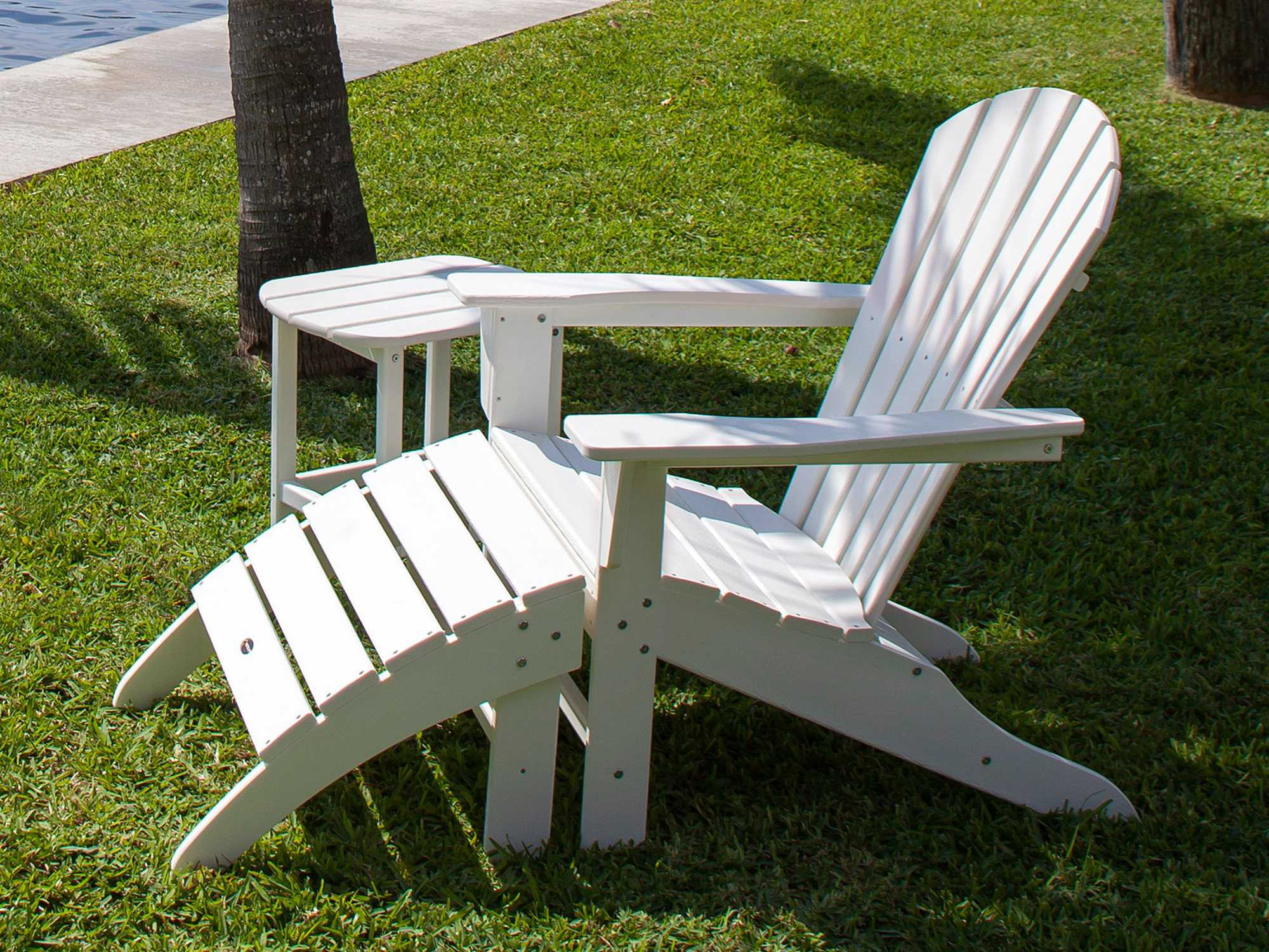 Plastic Outdoor Chair Polywood Seashell Recycled Plastic Adirondack Chair Sh22