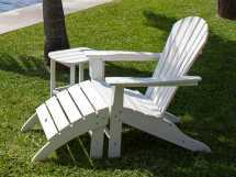 Polywood Seashell Recycled Plastic Adirondack Chair Sh22