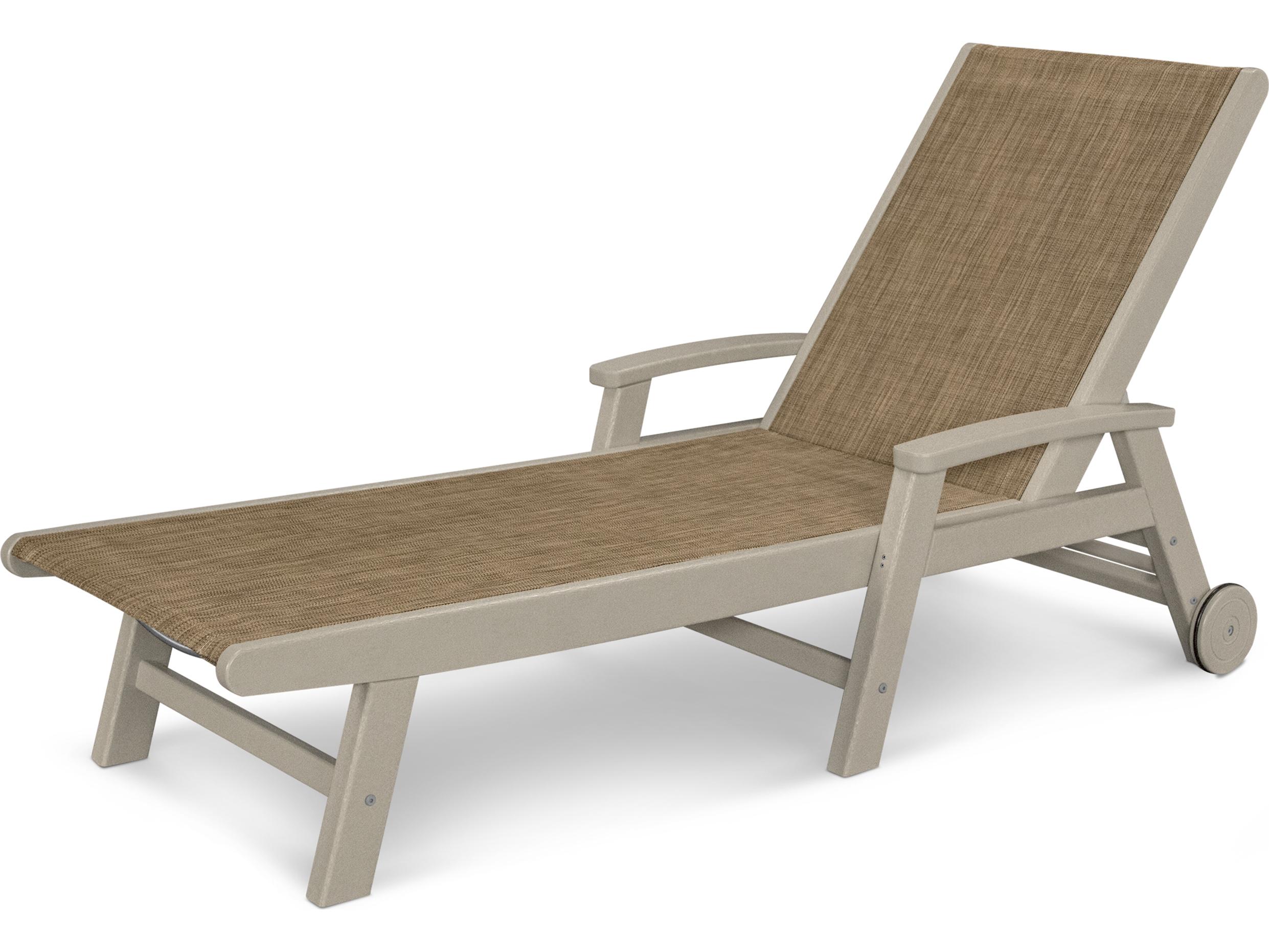 Polywood Coastal Sling Aluminum Chaise Lounge