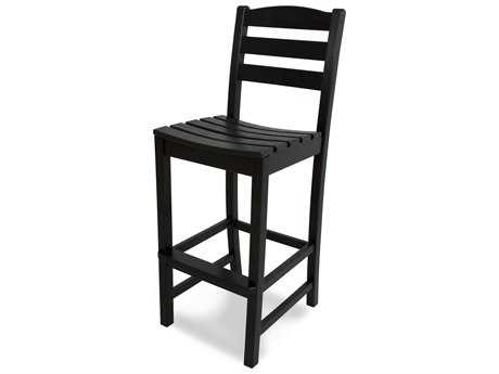 outdoor bar chairs ice fishing chair stools patio patioliving polywood la casa cafe recycled plastic side stool
