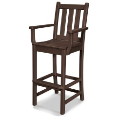 Bar Stool Chair Shower Chairs And Benches Polywood Traditional Garden Recycled Plastic