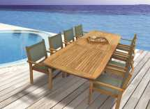 Royal Teak Collection Captiva Moss Sling Stackable Dining