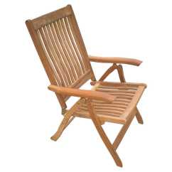Teak Lounge Chair Acrylic Folding Chairs Set Of 2 Royal Collection Estate Reclining Rlesfc