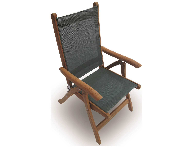 folding sling chair canada rack wall royal teak collection florida moss adjustable