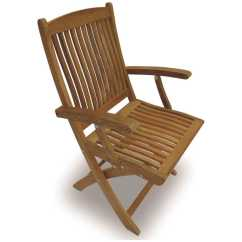 Teak Folding Chair Lift For Stairs India Royal Collection Sailor Dining Arm Rlsfc