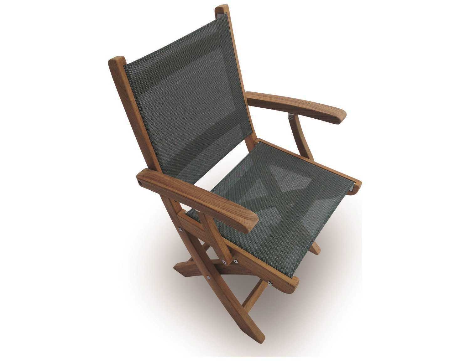 folding sling chair canada covers rentals for weddings royal teak collection sailmate moss dining