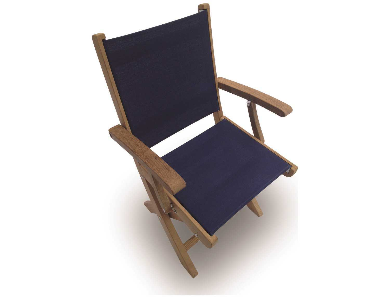 folding sling chair canada white barber royal teak collection sailmate navy dining