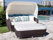 Outdoor Furniture Wicker Day Bed