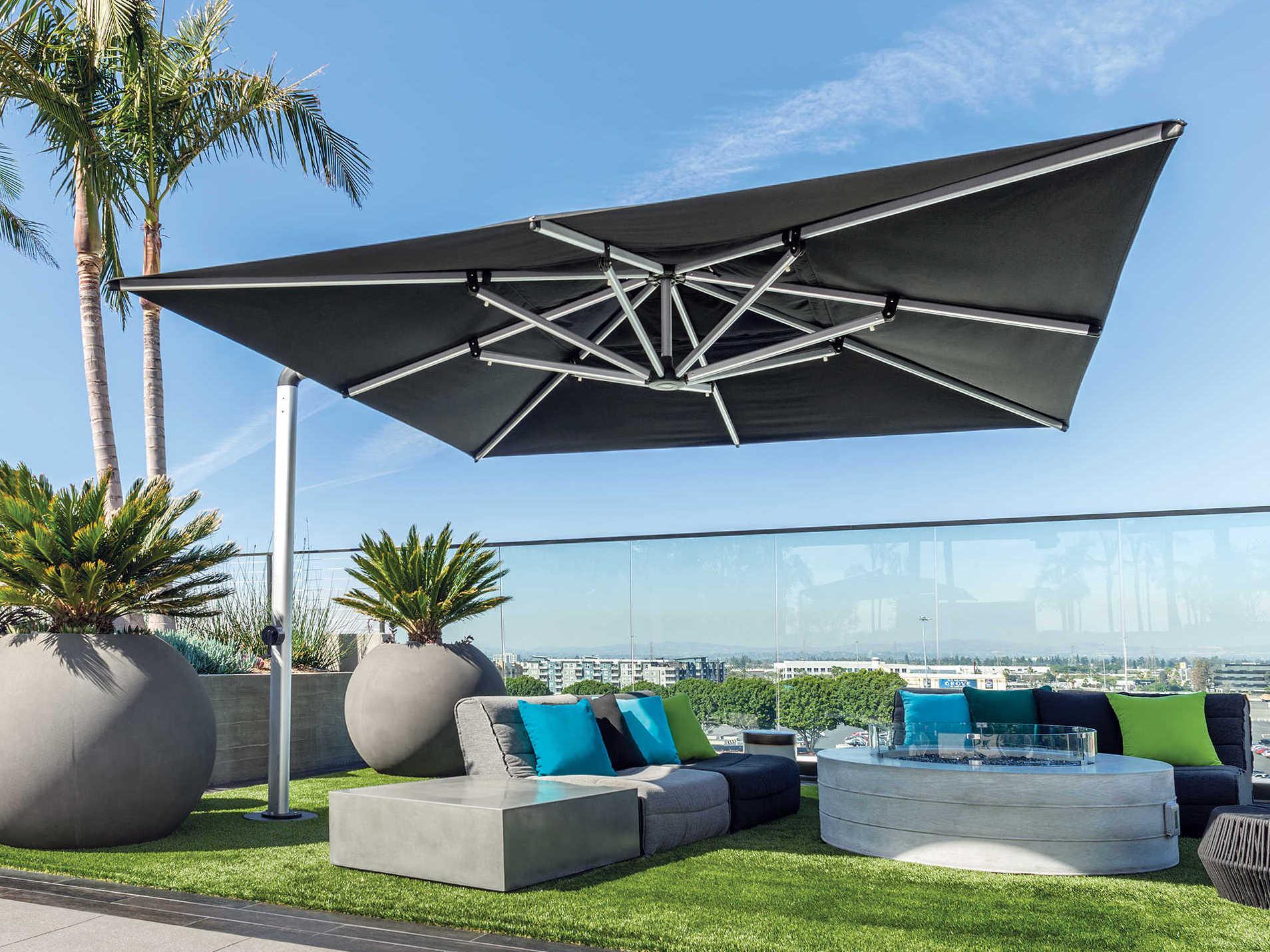 shademaker galaxy aluminum 13 1 crank lift square umbrella