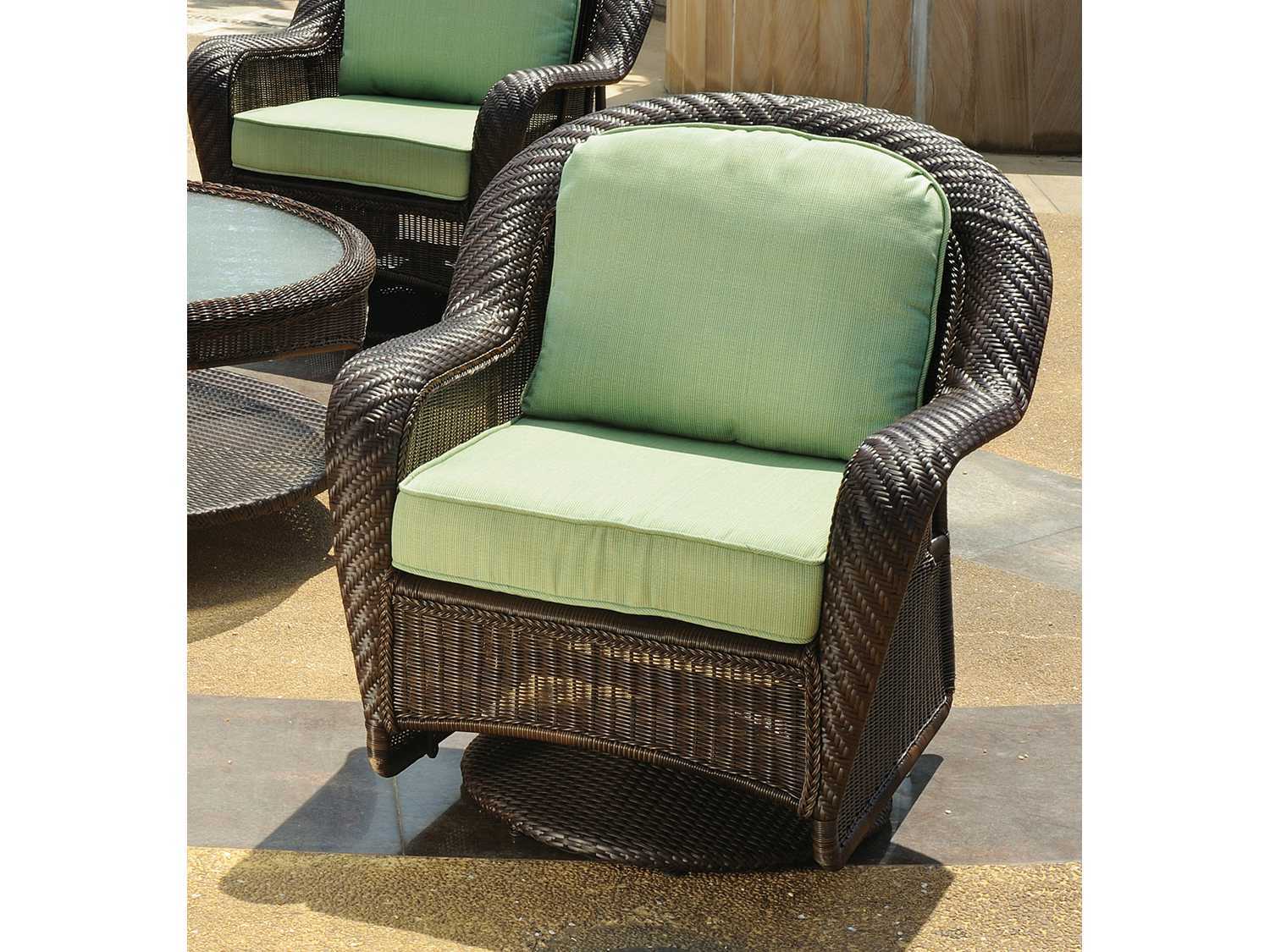 key west chairs slip covers for dining with arms south sea rattan wicker cushion arm glider lounge