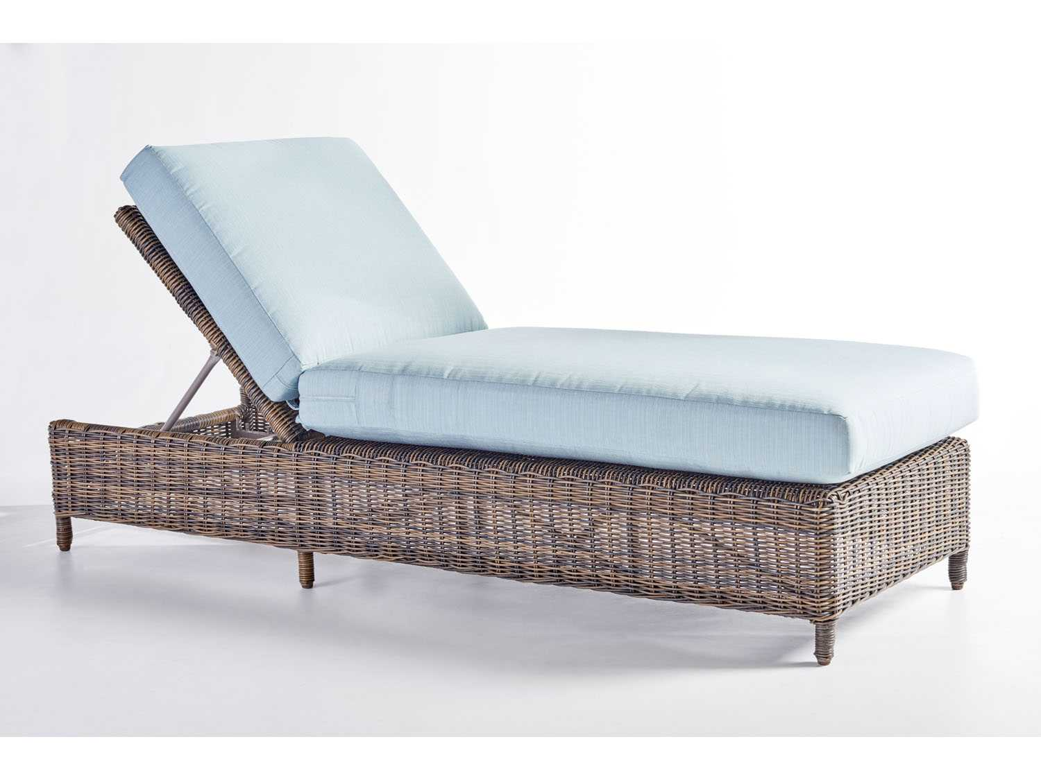 South Sea Rattan Del Ray Wicker Cushion Side Chaise Lounge