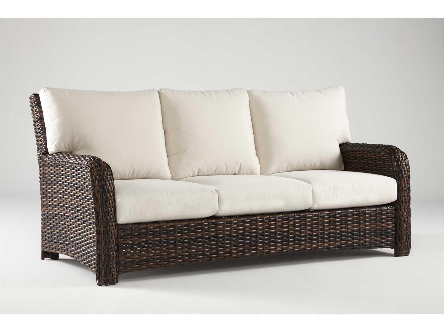 spring haven brown all weather wicker patio sofa sectional sleeper at sears outdoor hampton bay 30 in
