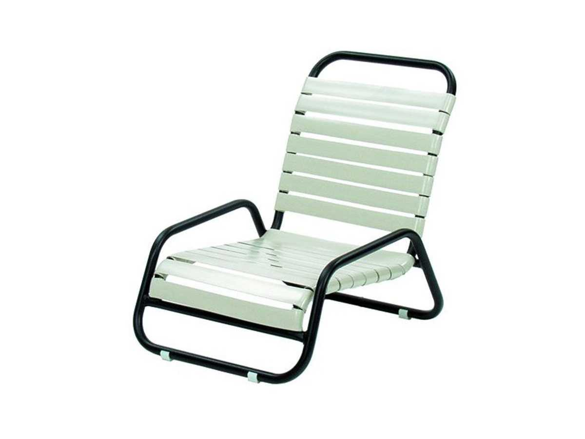toddler lounge chair with straps dining room suncoast sanibel strap aluminum arm 117