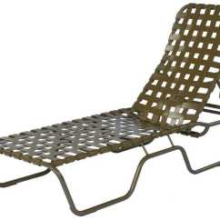 Lounge Chair Replacement Straps Outdoor Wood Folding Chairs Suncoast Sanibel Cross Strap Cast Aluminum Stackable