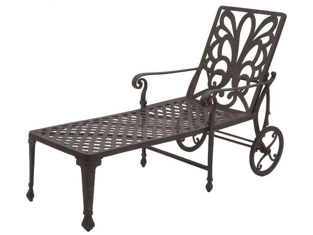Suncoast Windsor Cast Aluminum Metal Arm Chaise
