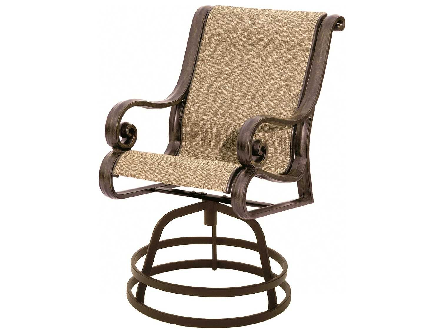 tall patio chairs with arms crate and barrel lounge chair suncoast san marco sling cast aluminum arm swivel counter