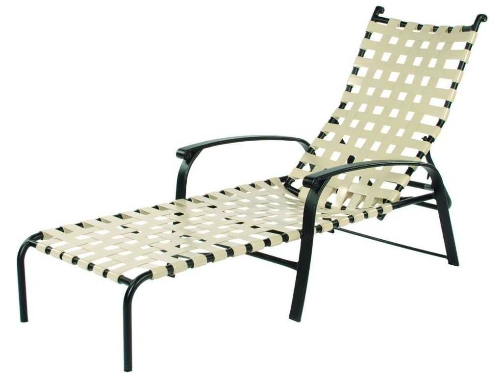 lounge chair replacement straps la z boy martin big tall executive office brown suncoast rosetta strap aluminum arm adjustable stackable