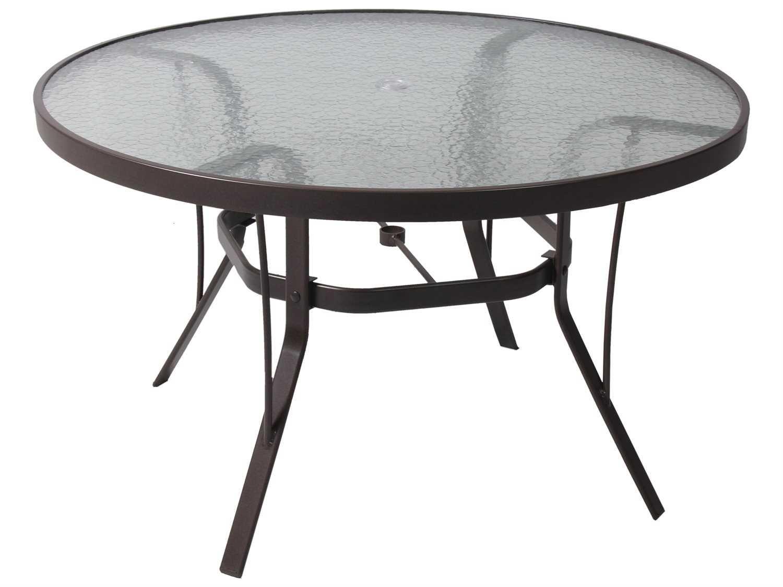 suncoast cast aluminum 36 round glass top dining table