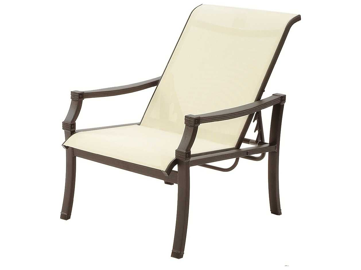 sling motion patio chairs massage chair osaki suncoast devereaux cast aluminum arm adjustable