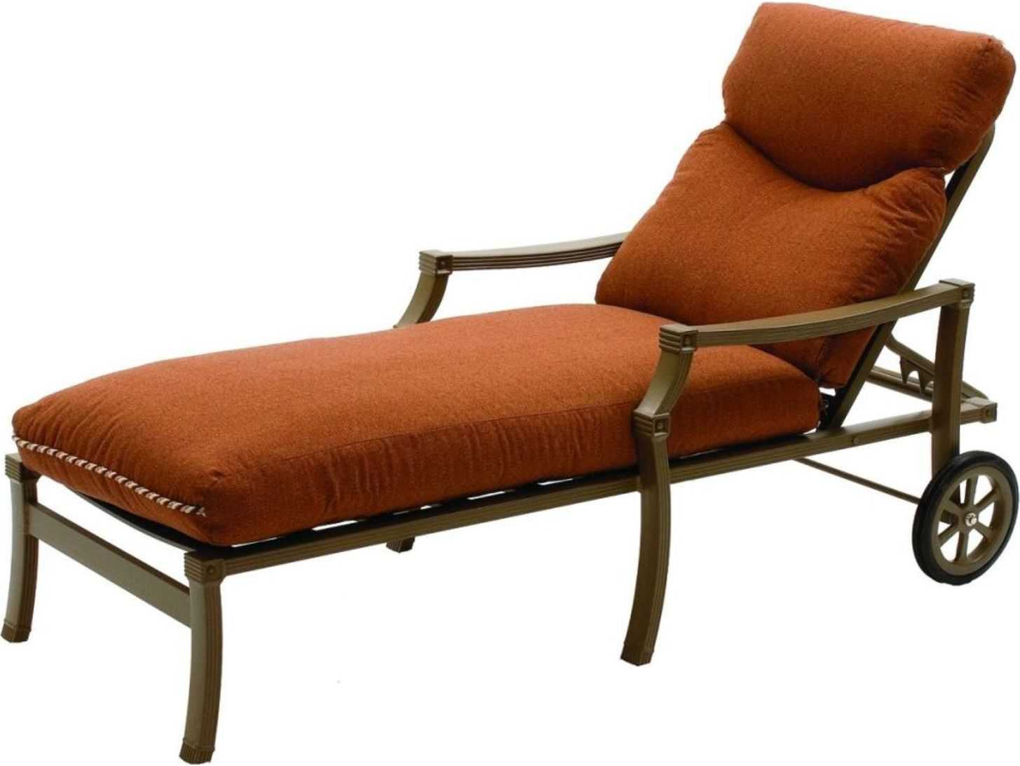 metal lounge chair with wheels used banquet chairs for sale suncoast devereaux cushion cast aluminum arm chaise 5713