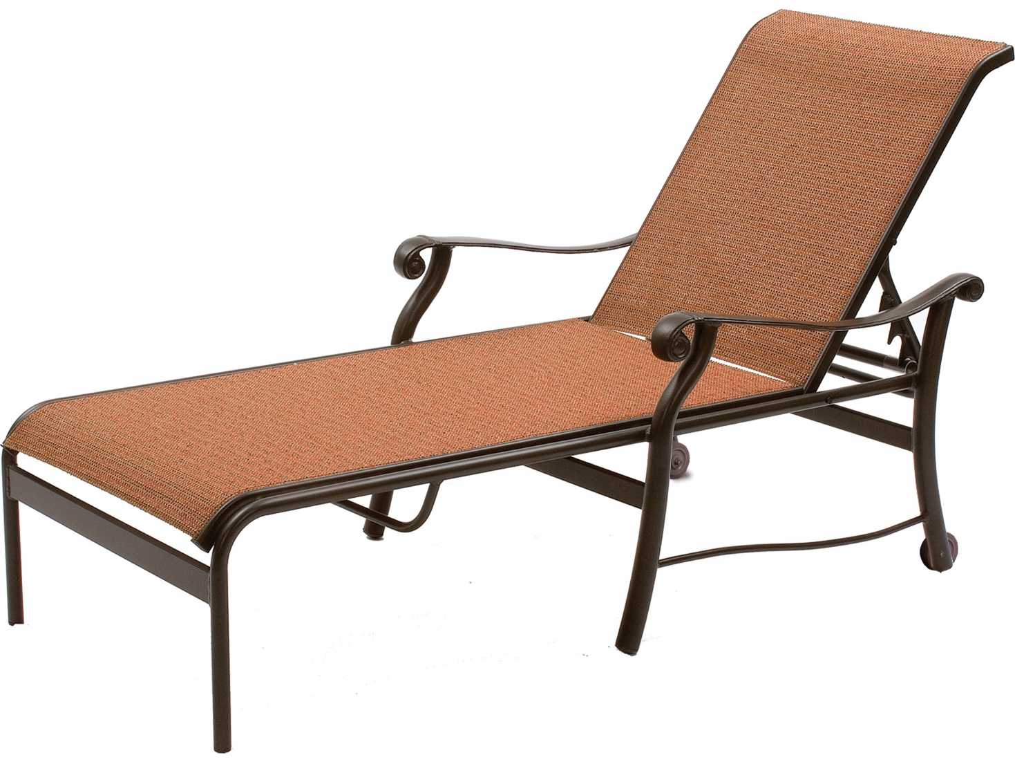 metal lounge chair with wheels antique arm chairs suncoast rendezvous sling cast aluminum heavy chaise