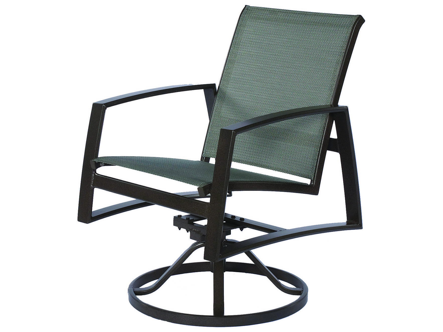 Sling Chairs Suncoast Vision Sling Cast Aluminum Arm Swivel Rocker