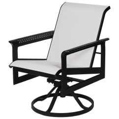Sling Motion Patio Chairs Wooden Toddler Table And Suncoast South Beach Cast Aluminum Arm Swivel Dining