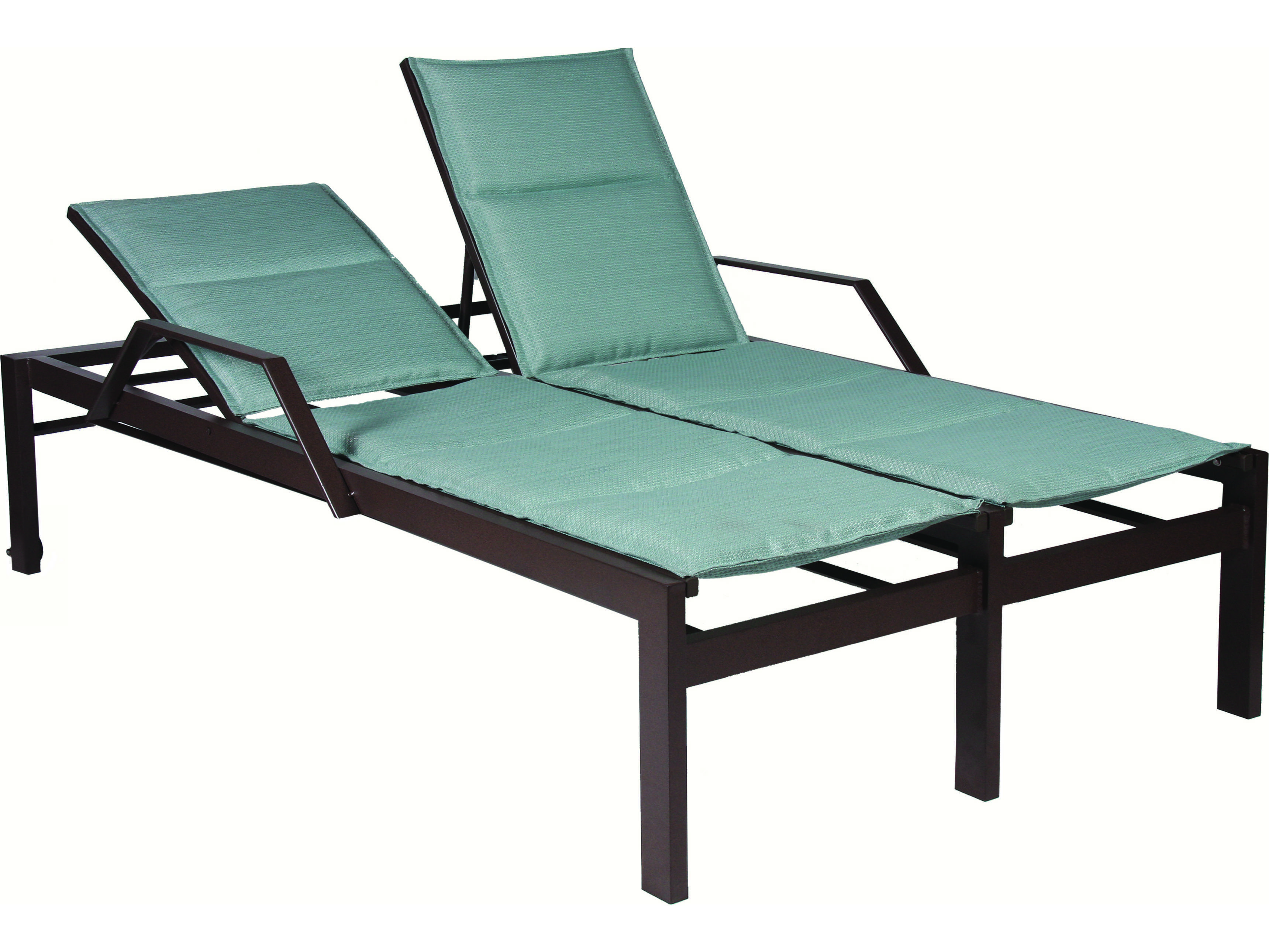lounge chair replacement straps windsor rocking cushions suncoast vectra bold sling cast aluminum double chaise