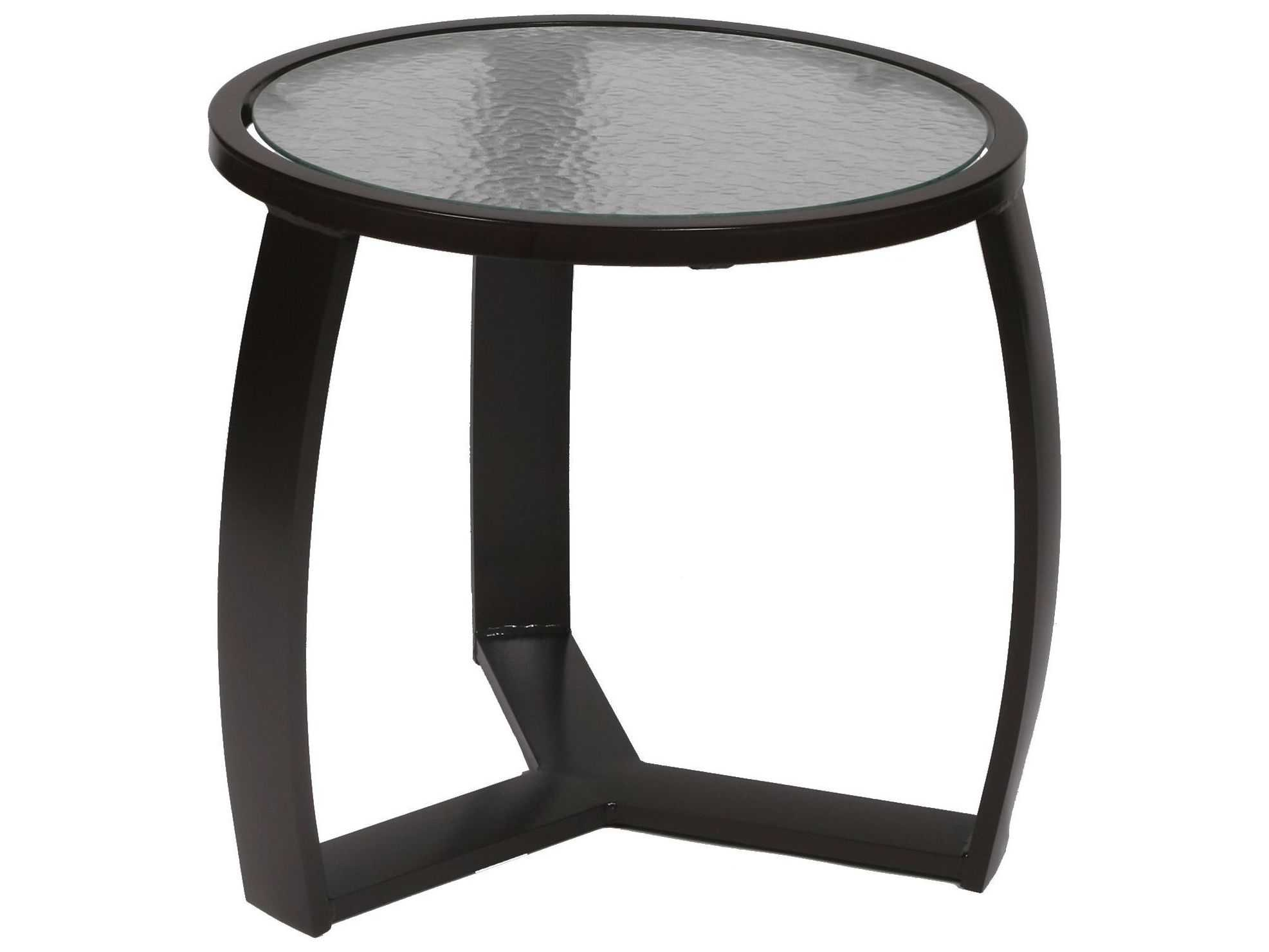 Suncoast Pinnacle Aluminum 22'' Round Glass End Table