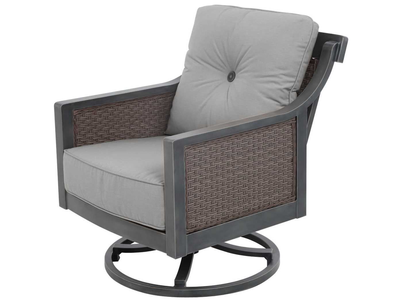 sailcloth beach chairs folding office chair uk sunvilla belize aluminum wicker swivel lounge in shadow
