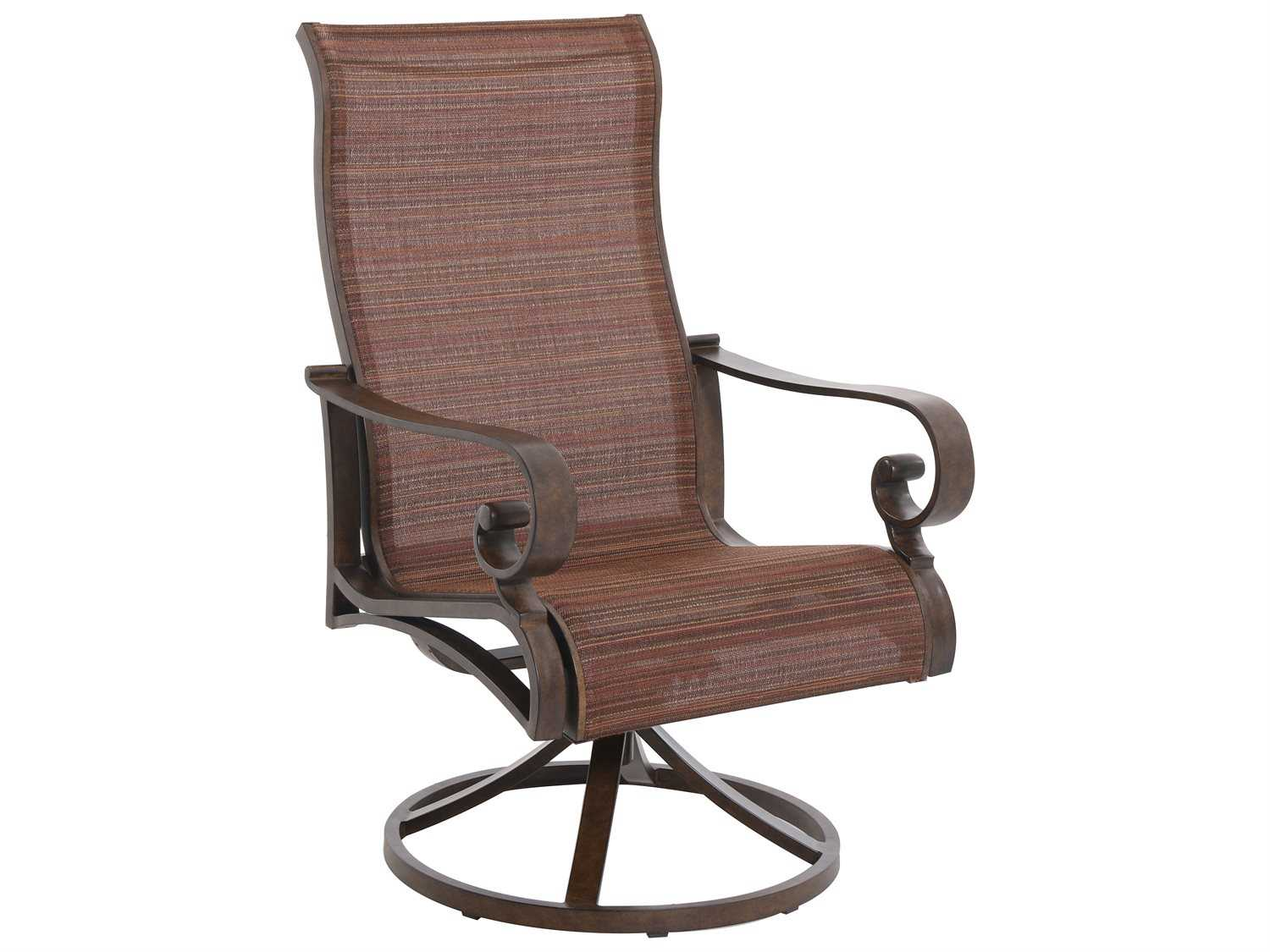 swivel chair in spanish outdoor sling with ottoman sunvilla riva aluminum gold