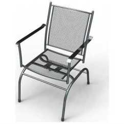 Steel Net Chair Swan Swivel Sunvilla Cambridge Mesh Spring Action In Graphite Sold
