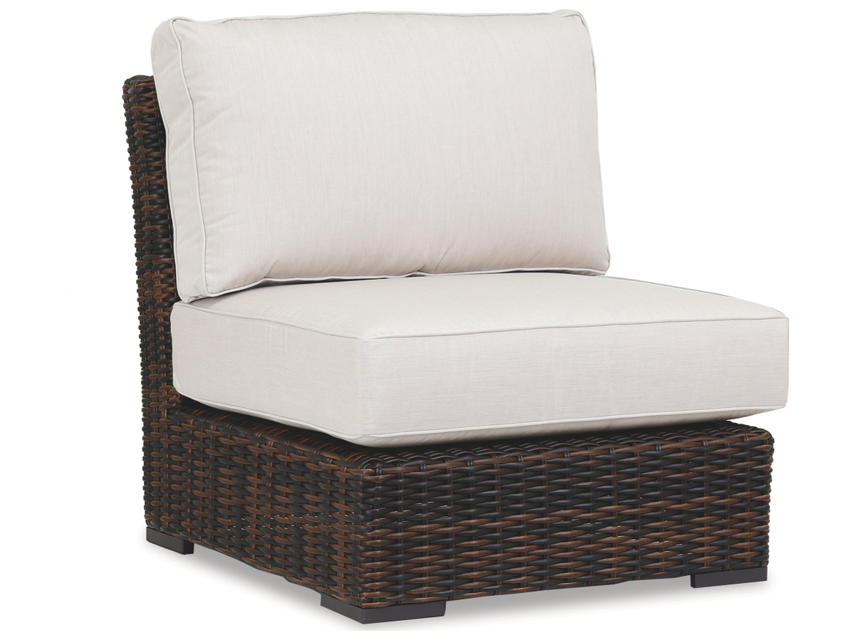 Armless Lounge Chair Sunset West Quick Ship Montecito Wicker Armless Lounge Chair In Canvas Flax With Self Welt
