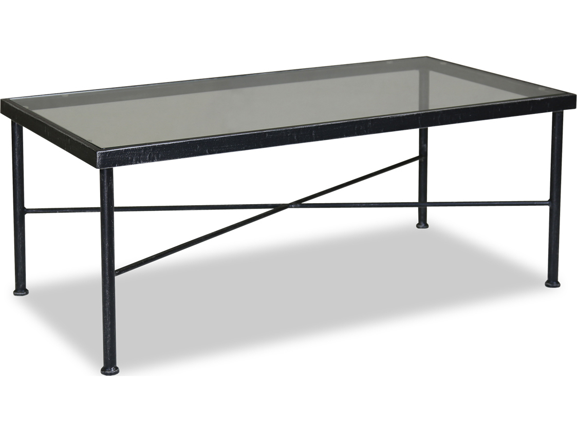 sunset west quick ship provence wrought iron 44 x 22 rectangular glass top coffee table