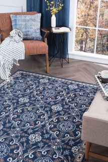 Tayse Rugs Hampton Izel Navy Rectangular Area Rug