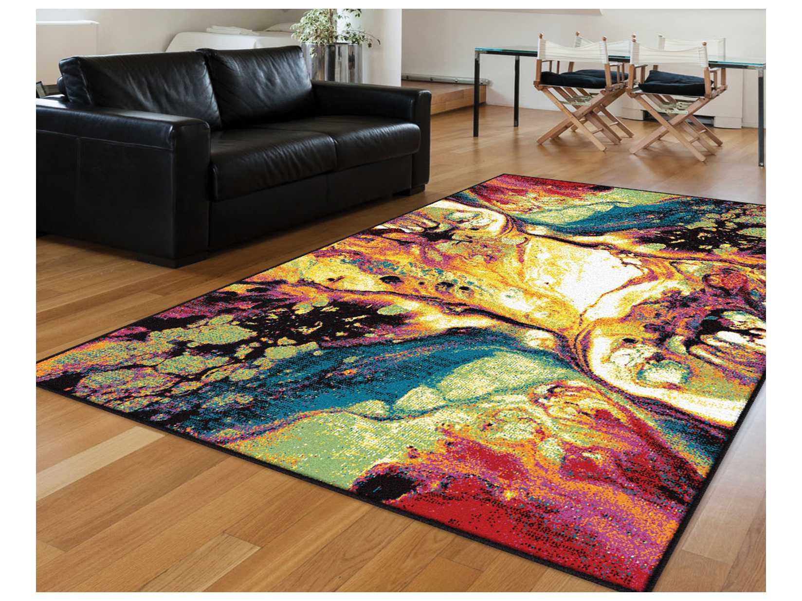 modern style adirondack chairs ikea futon chair bed tayse rugs symphony soleil rectangular multi-color area rug | tasmp1004multi