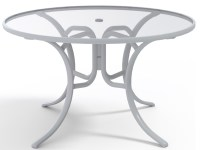 Telescope Casual Glass Top 48 Round Dining Table with ...