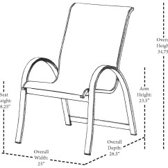 Sling Replacement For Patio Chairs Teal Folding Chair Telescope Casual Aruba Ii Aluminum Stackable Dining | 7a70