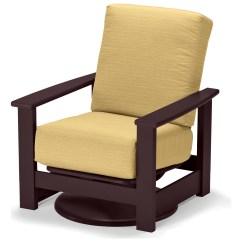 Plastic Swivel Chair Vintage Lawn Chairs Aluminum Telescope Casual Leeward Mgp Deep Seat Recycled