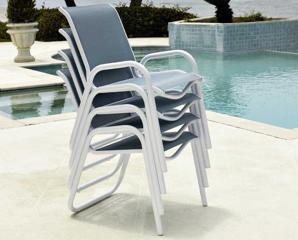Telescope Casual Reliance Sling Aluminum Stackable Dining