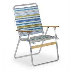 High Outdoor Folding Chairs Office Chair And Ottoman Set Telescope Casual Telaweave Aluminum Back Arm
