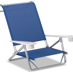 Beach Chairs With Cup Holders Chair Cover Rental Madison Telescope Casual And Aluminum Original Mini Sun