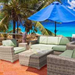 Santa Monica Sofa Set Kenton Sleeper Teva Wicker Lounge Tesantamlngeset2