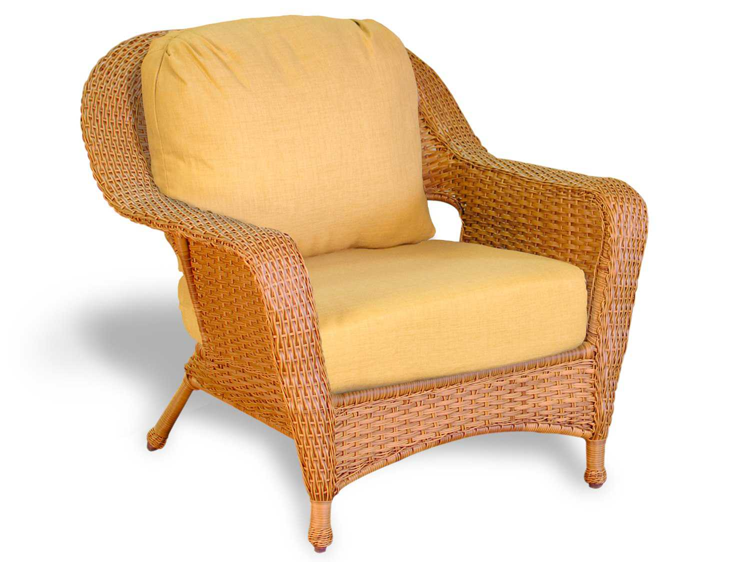 Wicker Patio Chair Tortuga Outdoor Lexington Wicker Cushion Club Chair Lex C1