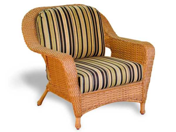outdoor wicker furniture cushions for chairs Tortuga Outdoor Lexington Wicker Cushion Club Chair | LEX-C1